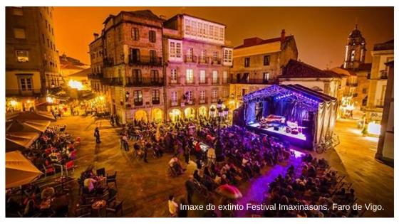 Imaxe do extinto Festival Imaxinasons. Faro de Vigo.